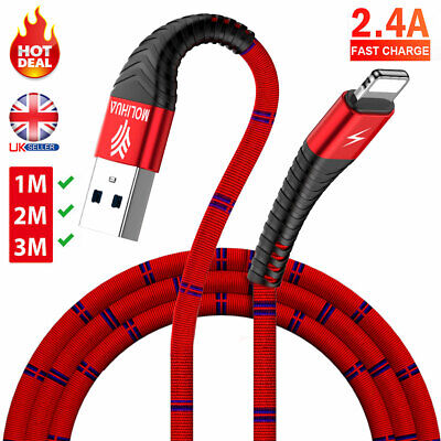 For iPhone Speedy Data Cable Apple iPad USB Charger Lighting Sync Charging 1M 2M