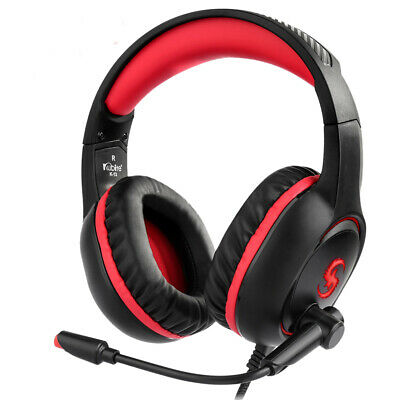 KUBITE 3.5mm Gaming Headset MIC LED Headphones Stereo for PC Laptop PS4 Xbox One