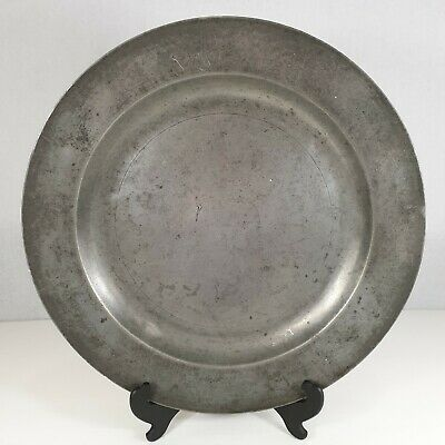 Antique Pewter Charger /Plate /Dish 41.5cm Diameter London Touch Marks #