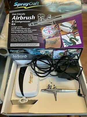 Spraycraft Airbrush & Compressor Kit for Cake Decorating & Models, Signs & Toys