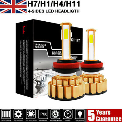 H4 H7 H11 160W 24000LM CREE Car LED Conversion Headlight Bulbs KIT Canbus 6000K