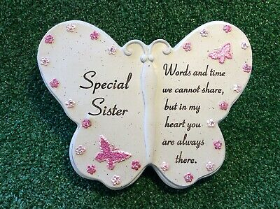 Special Sister Butterfly, Grave Memorial Ornament, Remembrance Cemetery Gift