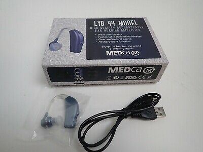 "MEDCA ""NEW"" LYB-44 MODEL high quality rechargeable ear hearing amplifier"