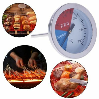 300℃ Stainless Steel Barbecue BBQ Smoker Grill Thermometer Temperature Gauge