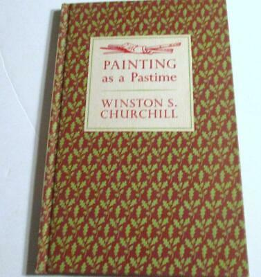 PAINTING as a PASTIME by WINSTON CHURCHILL-HC-ILLUS-1965 PRINT-