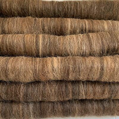 Raw Alpaca Fleece Rolags For Spinning or Felting - Dark Browns