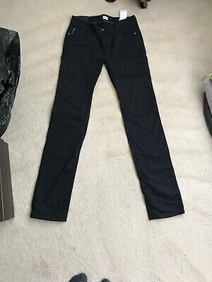 Boys Armani Junior Straight Leg Chino Trousers Black Age 16 Years