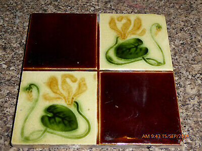 Art  Nouveau   Tile  By  Thomas & Richard  Boote