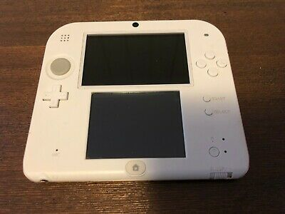 White Nintendo 2DS Console & Charger! FAST POST! VGC FW 11.4.0!