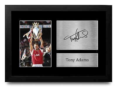 Tony Adams Signed Pre Printed Autograph Photo Gift For an Arsenal Fan