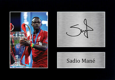 Sadio Mane Signed Pre Printed Autograph Photo Gift For a Liverpool Fan