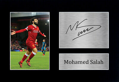 Mo Mohamed Salah Signed A4 Printed Autograph Framed Photo Liverpool Fan Gift