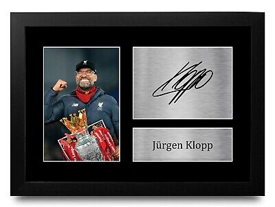 Jurgen Klopp Signed Pre Printed Autograph Photo Gift For a Liverpool Fan