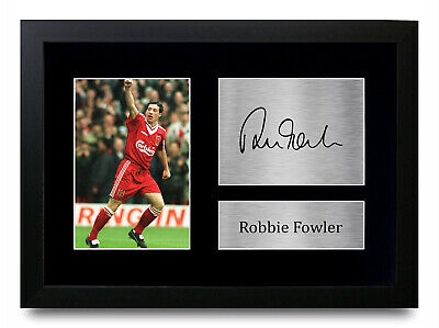 Robbie Fowler Signed Pre Printed Autograph Photo Gift For a Liverpool Fan