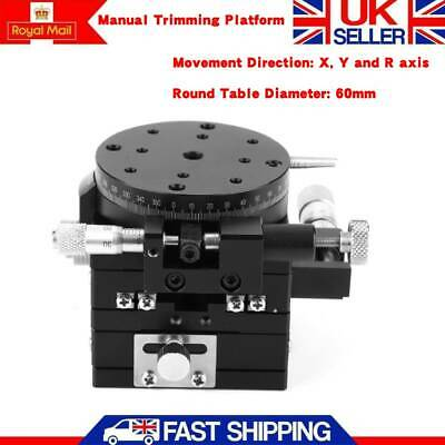 3-Axis XYR Manual Trimming Platform Linear Stage Bearing Tuning Sliding Table UK