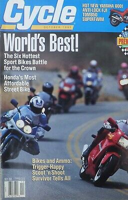 Cycle, American motorcycle magazine, OCTOBER 1991- LAST EVER EDITION