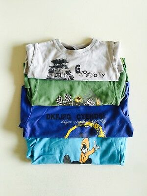 Boys Long Sleeve T shirts - set of 4 - size 3T - GUC - FREE SHIPPING in US !!