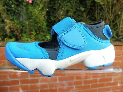L@@K Authentic Nike Air Rift Blue White Boys Girls Trainers Size Uk10.5