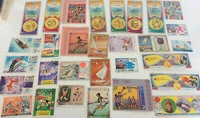 Mix Of 30 World Stamps, Some Mint, All Different Depicting Olympic Sports Set1