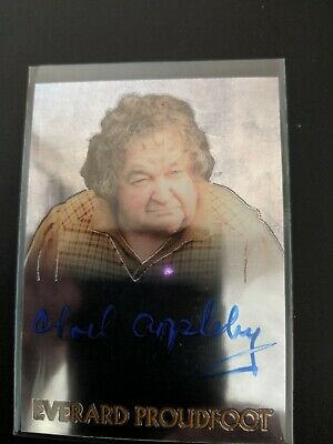 Topps  LOTR  Trilogy Chrome Everard Proudfoot Noel Appleby Autograph Auto card