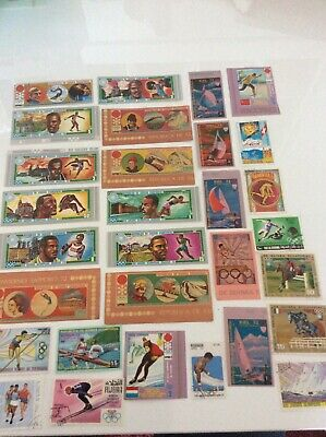 Mix Of 30 World Stamps, Some Mint, All Different Depicting Olympic Sports Set4