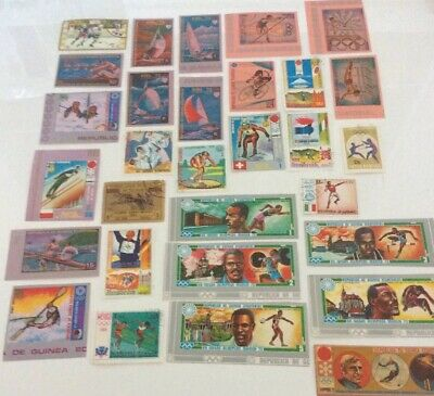 Mix Of 30 World Stamps, Some Mint, All Different Depicting Olympic Sports Set5