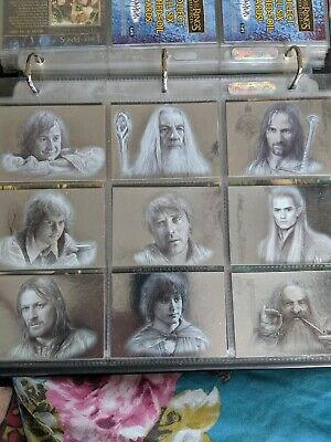 Lord Of The Rings Masterpieces, 9 Card Silver Foil Set, Complete, Topps