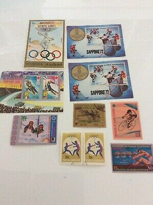 Mix Of World Stamps, Some Mint, All Different Depicting Olympic Sports Set6