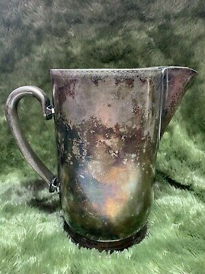 Vintage Legion Utensils Silver Plate Stainless Steel Water Pitcher Pat'd 11-8-51