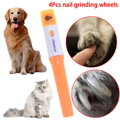 Electric pet dog cat pedicure grinder clipper claw toe nail trimmer kit DR