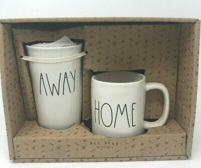 Rae Dunn Travel Mug AWAY and HOME Set Of Two BRAND NEW IN BOX