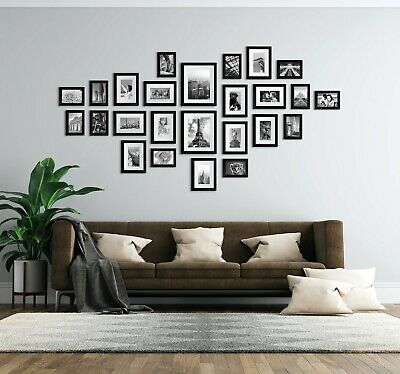 Large Set 25pcs 18pcs & 15pcs Multi Picture Photo Wall Frames Collage (Black)