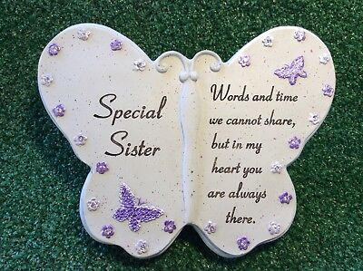 Special Sister Butterfly Grave Memorial Ornament, Graveside Remembrance Gift