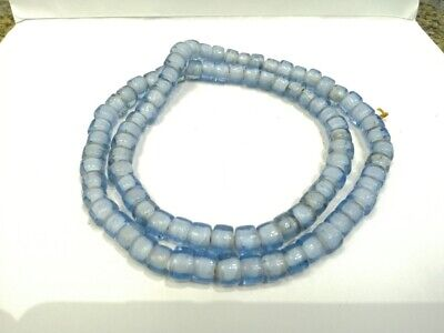 Ancient Yellow Wound Glass Hebron Kano Beads Ancient Roman Glass Beads Rare Afc