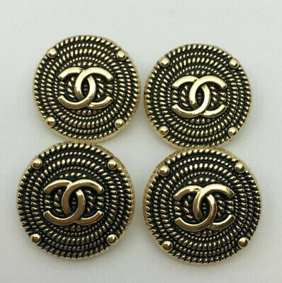 Chanel buttons, set of 4 - 20mm