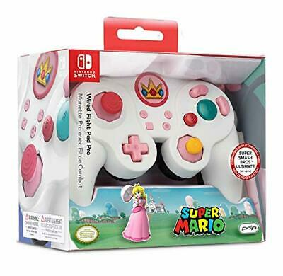 Nintendo Switch Super Mario Bros Princess Peach GameCube Style Wired Fight Pad P