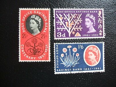 SG623A-625A 1960 Centenary of Post Office Savings Bank. Used Set of Stamps.
