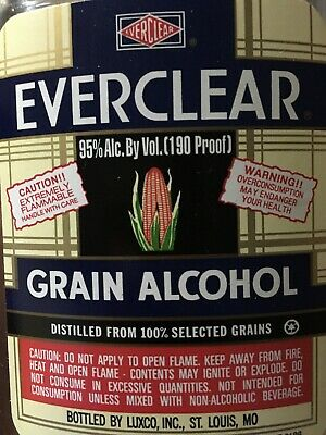 Everclear 1lt - Pure 95% Ethanol RSO EXTRACTION SOLVENT Pure Grain Alcohol Herb