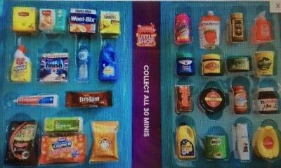 Coles Little Shop Mini Collectables -<#>- Brand New Set Of 30 Coles Minis Only