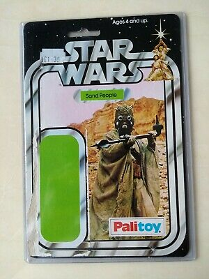 Star Wars vintage Palitoy Sand People 12b card back VGC