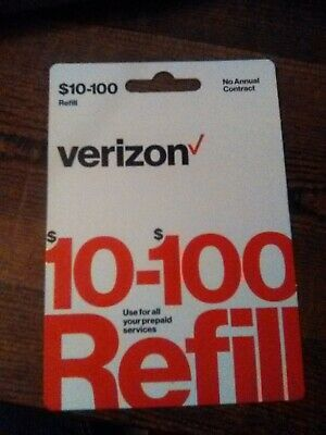 $10 Verizon Wireless Prepaid Refill Card