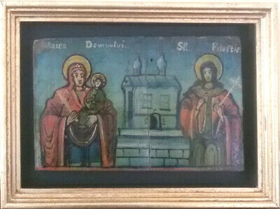 Romanian Icon of Holy Martyr Filofteia and Maica Domnului - 18/19th Century