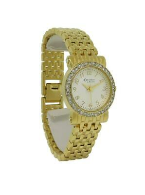 Caravelle by Bulova 45L122 Round Analog Clear Stone Champagne Watch