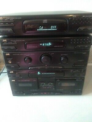 JVC stack system cd, tuner, double cassette player, graphic Equaliser.