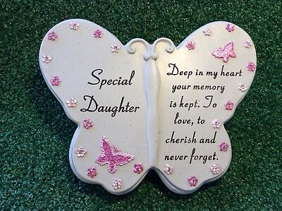 Special Daughter Butterfly Ornament, Grave Memorial Cemetery Remembrance Gift