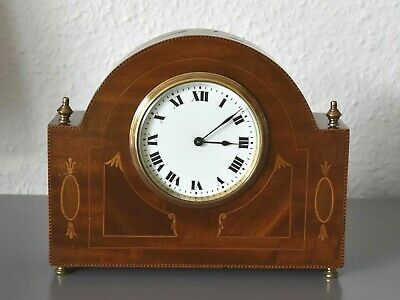 BUREN Antique - Edwardian inlaid mantel clock. Swiss Made. Escapement platform.