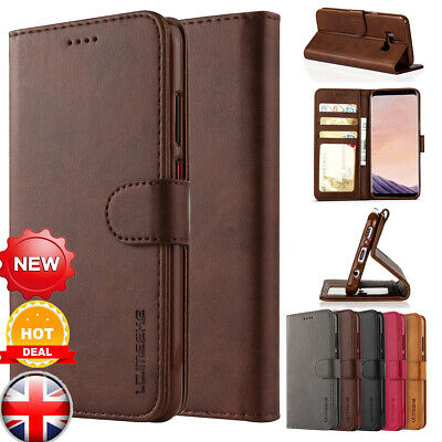 New Luxury Magnetic Flip Cover Stand Wallet Leather Case For Galaxy S7 S8 S9 S10