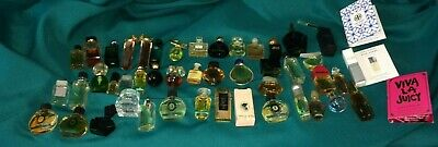 Lot of 50+ Miniature Mini Perfume Parfum Bottles & Vials  Vintage Fragrance