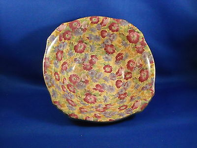 Royal Winton Grimwades Older  Royalty Chintz Ascot Square Cereal Bowl  England