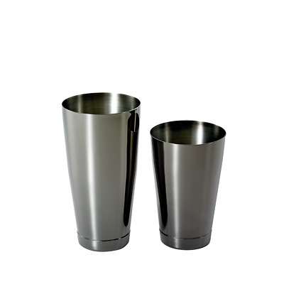 Barfly: Shaker Tin Set     Gunmetal Black
